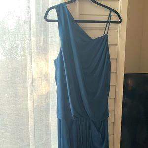 Helmut Lang Teal Cocktail Dress
